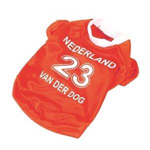 Hondenkleding   Oranje voetbalshirt voor uw hond
