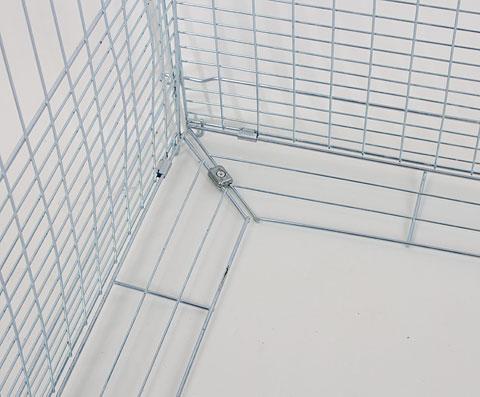 Kippenren Monty 144cm. | Verkleinde mazen aan de onderkant