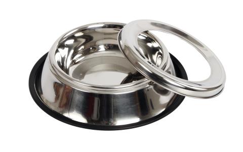 Anti-Splash RVS Drinkbak met losse ring