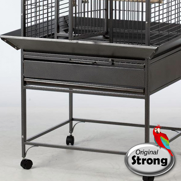 Papegaaienkooi Sara grijs | Papegaaien kooi | onderzijde